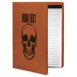 Skulls Leatherette Portfolio with Notepad - Small - Single Sided (Personalized)