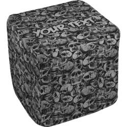 """Skulls Cube Pouf Ottoman - 18"""" (Personalized)"""