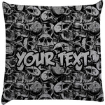 Skulls Decorative Pillow Case (Personalized)