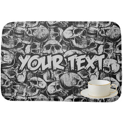 Skulls Dish Drying Mat (Personalized)