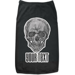 Skulls Black Pet Shirt (Personalized)