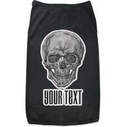 Skulls Black Pet Shirt (Personalized)