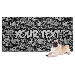 Skulls Pet Towel (Personalized)