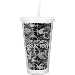 Skulls Double Wall Tumbler with Straw (Personalized)