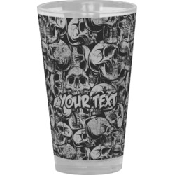 Skulls Drinking / Pint Glass (Personalized)