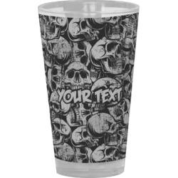 Skulls Drinking / Pint Glass (Personalized)