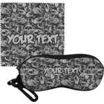 Skulls Eyeglass Case & Cloth (Personalized)