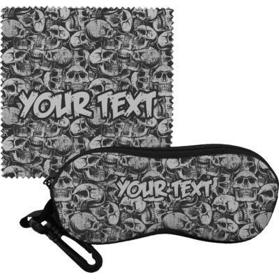 Skulls Eyeglass Case & Cloth (Personalized)