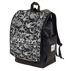 Skulls Backpack w/ Front Flap  (Personalized)
