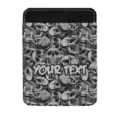 Skulls Genuine Leather Money Clip (Personalized)