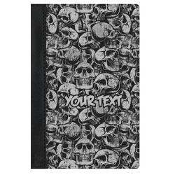 Skulls Genuine Leather Passport Cover (Personalized)