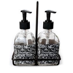 Skulls Soap & Lotion Dispenser Set (Glass) (Personalized)