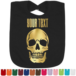 Skulls Foil Baby Bibs (Select Foil Color) (Personalized)