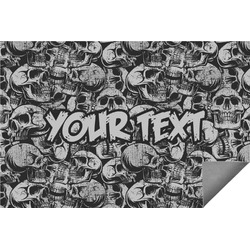 Skulls Indoor / Outdoor Rug (Personalized)