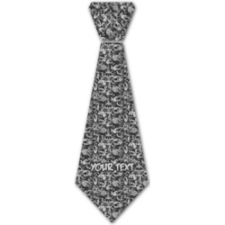 Skulls Iron On Tie (Personalized)
