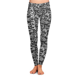 Skulls Ladies Leggings - Large (Personalized)
