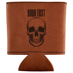Skulls Leatherette Can Sleeve (Personalized)