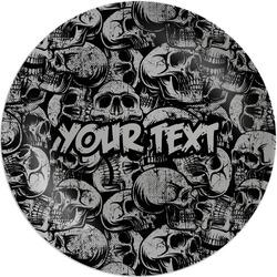 "Skulls Melamine Plate - 8"" (Personalized)"