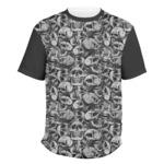 Skulls Men's Crew T-Shirt (Personalized)