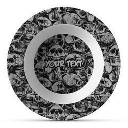 Skulls Plastic Bowl - Microwave Safe - Composite Polymer (Personalized)