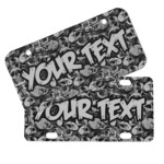 Skulls Mini/Bicycle License Plates (Personalized)