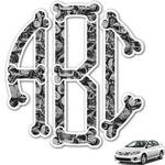 Skulls Monogram Car Decal (Personalized)