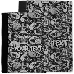 Skulls Notebook Padfolio w/ Name or Text