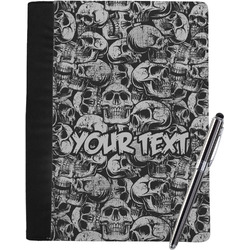 Skulls Notebook Padfolio - Large w/ Name or Text