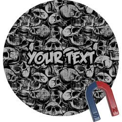 Skulls Round Fridge Magnet (Personalized)