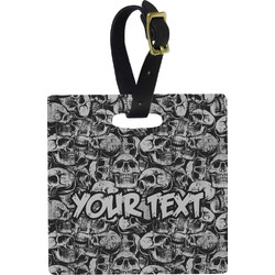 Skulls Square Luggage Tag (Personalized)