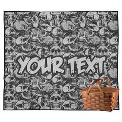 Skulls Outdoor Picnic Blanket (Personalized)