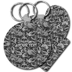 Skulls Plastic Keychains (Personalized)