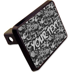 "Skulls Rectangular Trailer Hitch Cover - 2"" (Personalized)"
