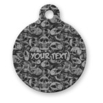 Skulls Round Pet Tag (Personalized)
