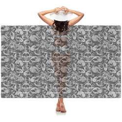 Skulls Sheer Sarong (Personalized)