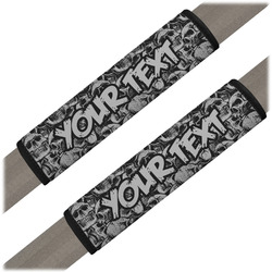 Skulls Seat Belt Covers (Set of 2) (Personalized)