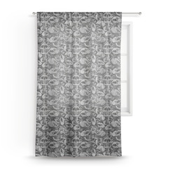 """Skulls Sheer Curtains - 60""""x60"""" (Personalized)"""