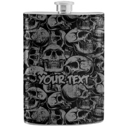 Skulls Stainless Steel Flask (Personalized)