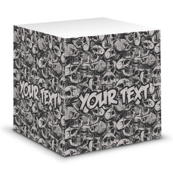 Skulls Sticky Note Cube (Personalized)