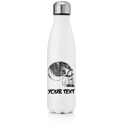Skulls Tapered Water Bottle - 17 oz. - Stainless Steel (Personalized)