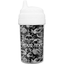 Skulls Toddler Sippy Cup (Personalized)