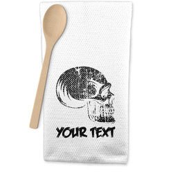 Skulls Waffle Weave Kitchen Towel (Personalized)