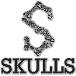 Skulls Name & Initial Decal - Custom Sized (Personalized)