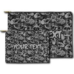 Skulls Zipper Pouch (Personalized)