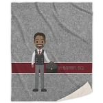 Lawyer / Attorney Avatar Sherpa Throw Blanket (Personalized)