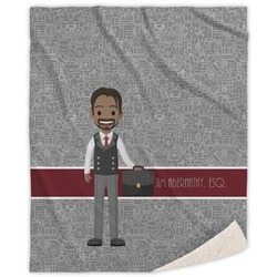 Lawyer / Attorney Avatar Sherpa Throw Blanket (Personalized)