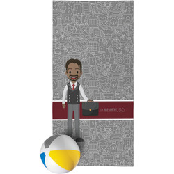 Lawyer / Attorney Avatar Beach Towel (Personalized)