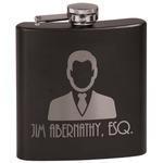 Lawyer / Attorney Avatar Black Flask (Personalized)