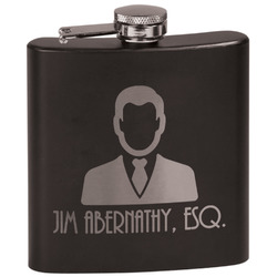 Lawyer / Attorney Avatar Black Flask Set (Personalized)