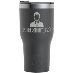 Lawyer / Attorney Avatar RTIC Tumbler - Black (Personalized)